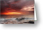 Twilight Greeting Cards - January Sunrise Greeting Card by Evgeni Dinev