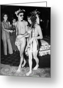 Counterculture Greeting Cards - Japan: Nude Wedding, 1970 Greeting Card by Granger