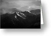 Snowcapped Greeting Cards - Japanese Alps Greeting Card by José Rentería Cobos photography