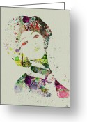 Performing Greeting Cards - Japanese woman Greeting Card by Irina  March