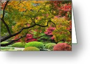 Tokyo Greeting Cards - Japnese Autumn Colors Greeting Card by Photos from Japan, Asia and othe of the world