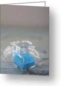 Inside Of Greeting Cards - Jar Of Blue Sprinkles Greeting Card by Shawna Lemay