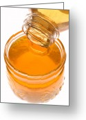 Fluid Greeting Cards - Jar of honey Greeting Card by Garry Gay