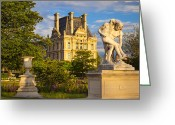Tuileries Greeting Cards - Jardin des Tuileries Greeting Card by Brian Jannsen