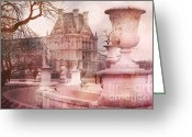 Tuileries Greeting Cards - Jardin des Tuileries Garden Square Greeting Card by Kathy Fornal