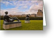 Tuileries Greeting Cards - Jardin des Tuileries Greeting Card by Mick Burkey