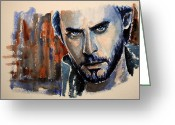 Second Greeting Cards - Jared Leto Greeting Card by Francoise Dugourd-Caput