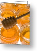 Jars Greeting Cards - Jarrs of honey Greeting Card by Garry Gay