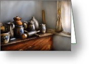 Jars Greeting Cards - Jars -  Assorted Kitchen Junk Greeting Card by Mike Savad