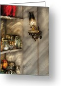Jars Greeting Cards - Jars - Kitchen Corner Greeting Card by Mike Savad