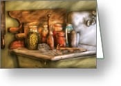 Jars Greeting Cards - Jars - The process of canning Greeting Card by Mike Savad