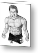 Male Athletes Greeting Cards - Jason Mayhem Miller 02 Greeting Card by Audrey Snead