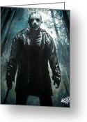 Jason Voorhees Greeting Cards - Jason Greeting Card by Tom Carlton