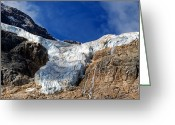 Edith Greeting Cards - Jasper - Angel Glacier Panorama Close Up Greeting Card by Terry Elniski