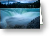 Canadian Rockies Greeting Cards - Jasper - Athabasca Falls 2 Greeting Card by Terry Elniski