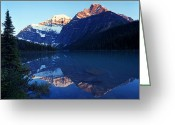 Edith Greeting Cards - Jasper - Lake Edith Cavell 2 Greeting Card by Terry Elniski