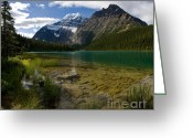 Edith Greeting Cards - Jasper - Lake Edith Cavell Greeting Card by Terry Elniski