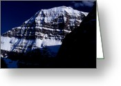 Edith Greeting Cards - Jasper - Mt. Edith Cavell 1 Greeting Card by Terry Elniski