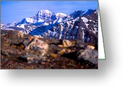 Edith Greeting Cards - Jasper - Mt. Edith Cavell From Whistlers Mountain Greeting Card by Terry Elniski