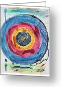 Paul Klee Greeting Cards - Jasper Johns Flight Delay Number 5 Greeting Card by Kevin Callahan