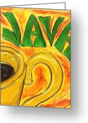 Fun Pastels Greeting Cards - Java Greeting Card by Lee Halbrook