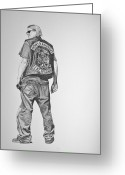 Jax Teller Greeting Cards - Jax II Greeting Card by Scott Ritchie