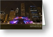Midwest Greeting Cards - Jay Pritzker Pavilion Chicago Greeting Card by Adam Romanowicz