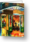 Street Musicians Greeting Cards - Jazz at the Maison Bourbon Greeting Card by Diane Millsap