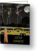 Motown Scream Tour Greeting Cards - Jazz Blues Lets Dance Greeting Card by Eric Kempson
