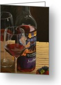 Wine Bottle Prints Greeting Cards - Jazz Me Up Greeting Card by Brien Cole