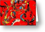 Flower Photography Painting Greeting Cards - Jazz Music  Greeting Card by Mark Kazav
