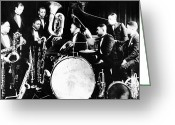 Roaring Twenties Greeting Cards - JAZZ MUSICIANS, c1925 Greeting Card by Granger