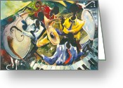 Spectacle Greeting Cards - Jazz no. 1 Greeting Card by Elisabeta Hermann