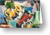 Spectacle Greeting Cards - Jazz No. 3 Greeting Card by Elisabeta Hermann