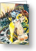 Spectacle Greeting Cards - Jazz No.2 Greeting Card by Elisabeta Hermann