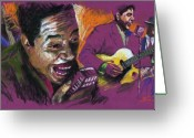 Emotion Greeting Cards - Jazz Songer Greeting Card by Yuriy  Shevchuk