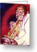 Most Greeting Cards - Jazzman Cootie Williams Greeting Card by David Lloyd Glover