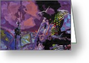 Davis Greeting Cards - Jazz.Miles Davis.4. Greeting Card by Yuriy  Shevchuk