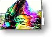 Quarter Horse Greeting Cards - Jazzy Horse Greeting Card by Barbara Griffin