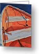 Petoskey Painting Greeting Cards - J.B. John Greeting Card by Kurt Anderson 