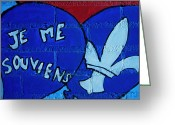 Bleu Greeting Cards - Je Me Souviens ... Greeting Card by Juergen Weiss