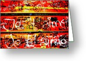 Funkpix Greeting Cards - JE TAIME Love Bench Greeting Card by Funkpix Photo  Hunter