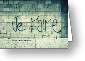 Western Photo Greeting Cards - Je Taime Greeting Card by Will Grant
