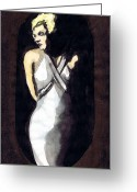 1933 Movies Greeting Cards - Jean Harlow 2 Greeting Card by Mel Thompson