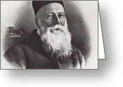 Nobel Peace Prize Greeting Cards - Jean Henri Dunant, Swiss Humanitarian Greeting Card by Photo Researchers