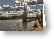 Jeanie Greeting Cards - Jeanie Johnson Dublin Quays Ireland Greeting Card by Joe Houghton