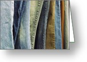 Anna Villarreal Garbis Greeting Cards - Jeans Greeting Card by Anna Villarreal Garbis