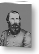 Brown Digital Art Greeting Cards - JEB Stuart -- Confederate General Greeting Card by War Is Hell Store