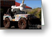 Four-wheel Greeting Cards - Jeep Art Greeting Card by David Lee Thompson