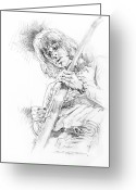 Yardbirds Greeting Cards - Jeff Beck - Truth Greeting Card by David Lloyd Glover